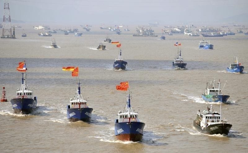 尖閣諸島周辺に約230隻の中国漁...