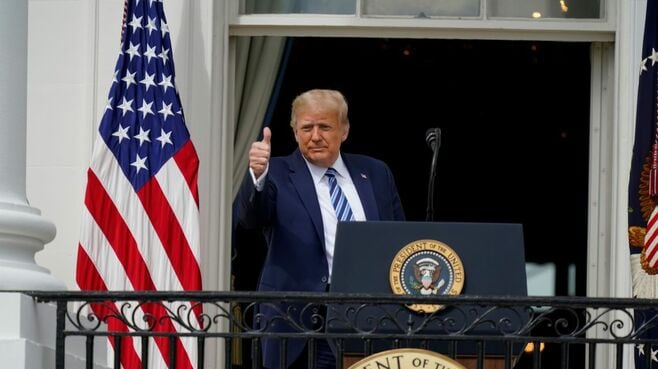コロナ克服のトランプ大統領が受けた「大打撃」