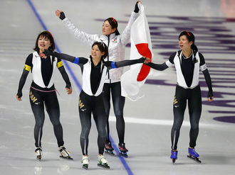 Speed skating - Japan's women make their mark at big Oval in Gangneung