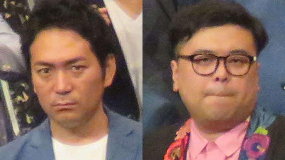 暴言騒動を引き起こした、とろサーモン・久保田かずのぶさん(右)とスーパーマラドーナ・武智正剛さん(写真:日刊スポーツ新聞社)