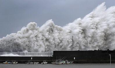 Japan issues evacuation advisories as typhoon Jebi approaches