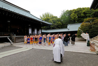 Festival brings sunshine to scandal-hit sumo wrestling