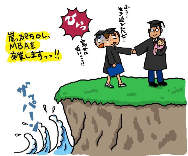崖っぷちOL、涙と吐き気の卒業式