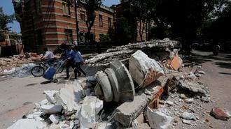 メキシコ地震、市民が見た心底恐ろしい光景