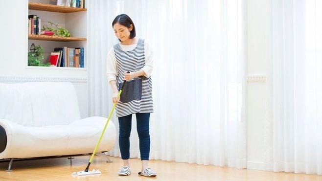 掃除機をやめてみたら何と床が広々になった