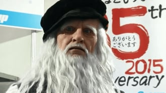 International Robot Exhibition: Leonardo da Vinci Robot Wows Tokyo Crowd