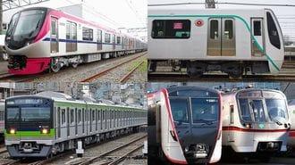 「電車のデザイン」色のラインは窓下から上へ