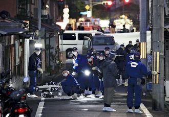 京都市伏見区の路上で2人が刺されて1人死亡