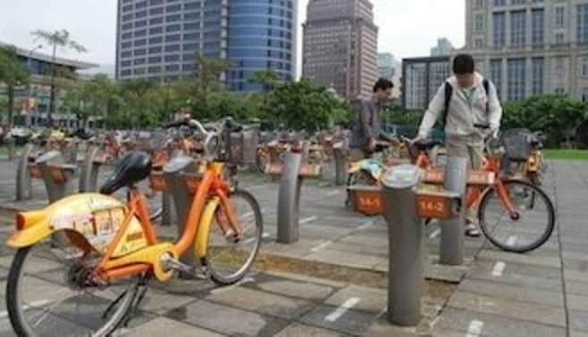台湾で爆発的に広がる、自転車シェアリング