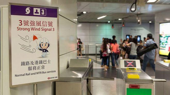 香港の「計画運休」は、ここまで徹底している
