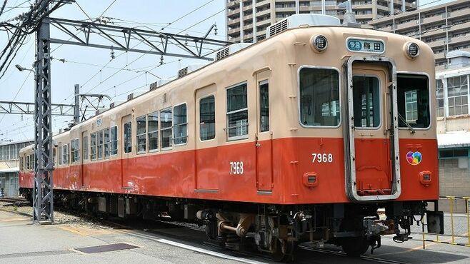 """阪神「赤胴車」静かに引退、伝統塗装""""最後の姿"""""""