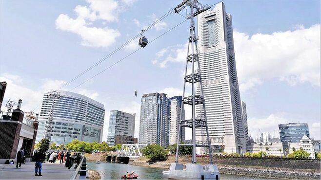 横浜ロープウェー、高さ40m「異常時」どう救助?