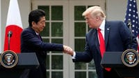 Japan's PM says talks with Trump on trade were constructive ahead of meetings this week