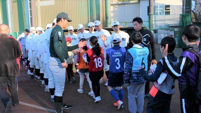 早稲田野球部OBが子供と野球遊びに全力の事情
