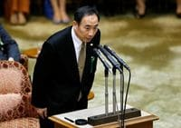 Japan PM Abe denies he or wife made donations to principal of scandal-hit school