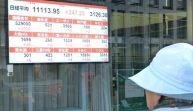 日経平均は10年4月以来の1万1000円台