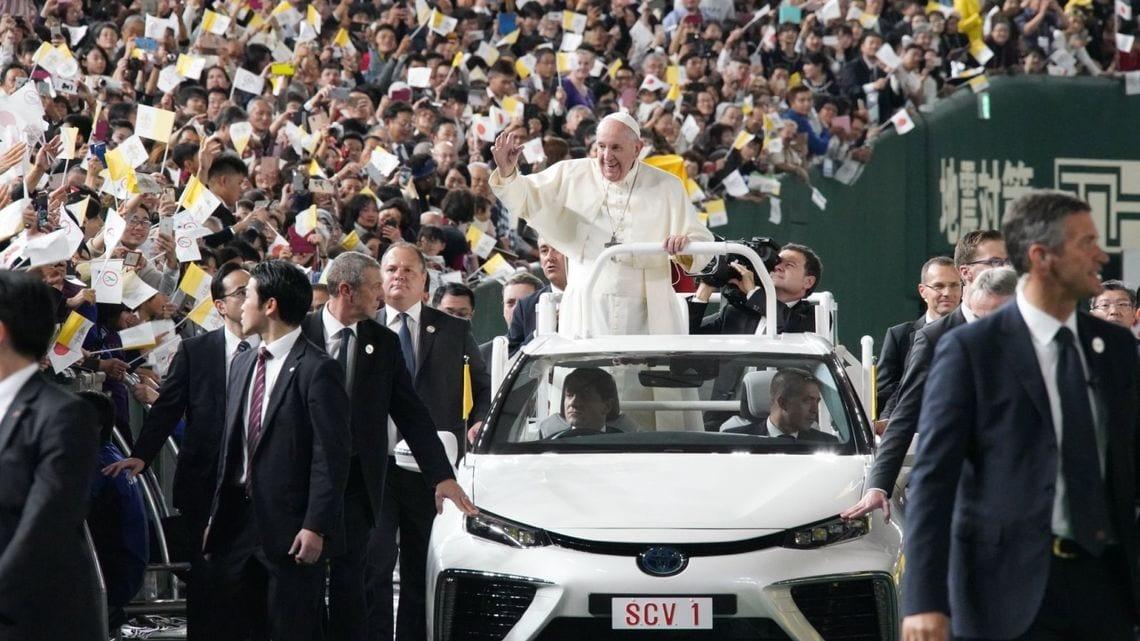 「ローマ教皇 フランシスコ 来日」の画像検索結果