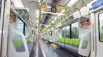 満員電車では中吊り広告の「出番」が大きい