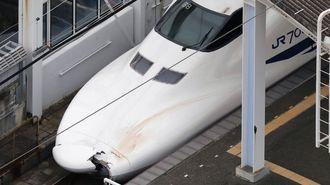 新幹線、血を付けたまま走り続けた異常事態