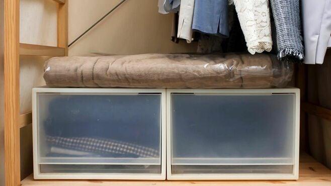 冬の毛布「スペース取らない」かしこい収納術