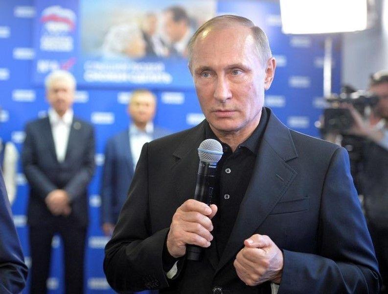 ロシア下院選、プーチン大統領の与党が圧勝