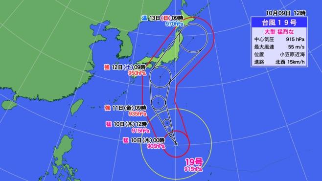 台風19号が10月だからこそ厳重警戒が必要な訳
