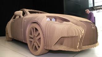 Lexus Builds Origami-inspired Cardboard Car