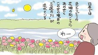 死の間際に「お花畑」が見えるのは日本人だけか