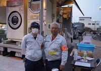 避難所を支える洗濯機、静岡・伊豆の国のメーカーがボランティア