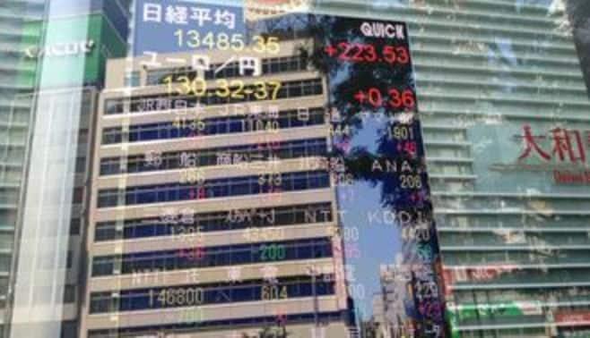 日経平均は1万3500円台を回復