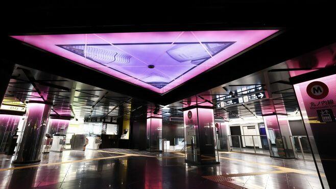 メトロ銀座駅を大改装、必見「光の演出」の狙い