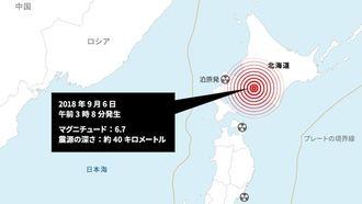 北海道で起きた最大震度7地震の甚大影響