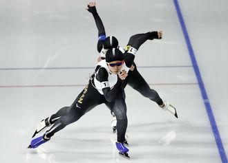 女子パシュート、日本が初の金メダル