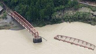 豪雨で「人気鉄橋」も流出、九州の鉄道再び受難