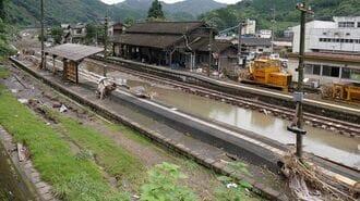 濁流が飲み込んだ線路…「九州鉄道被災」の現場