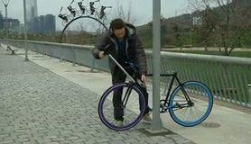 逆転の発想、「絶対盗めない自転車」