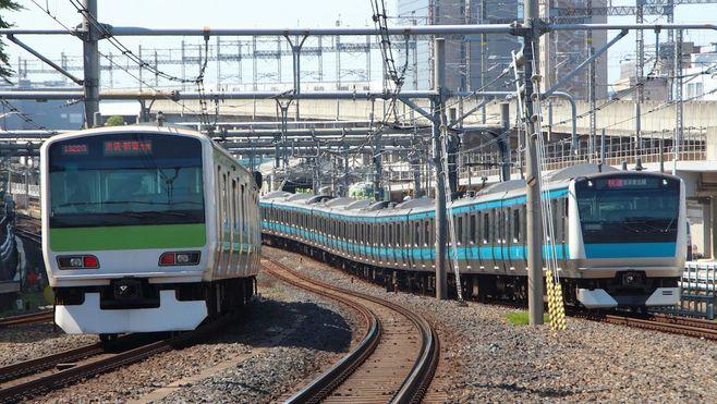 """山手線vs京浜東北線、""""並行競走""""の勝者は?"""