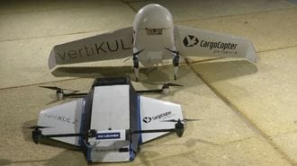 Belgian Drone Mixes Plane and Quadcopter Technology