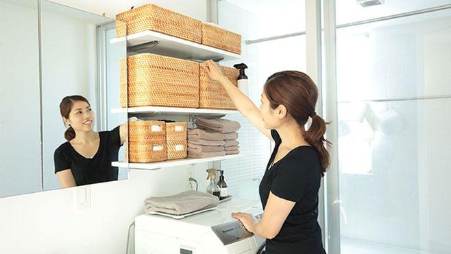 家事効率がアップする洗濯機まわりの収納術