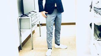 「スーツ+スニーカー」絶妙な合わせ方の基本