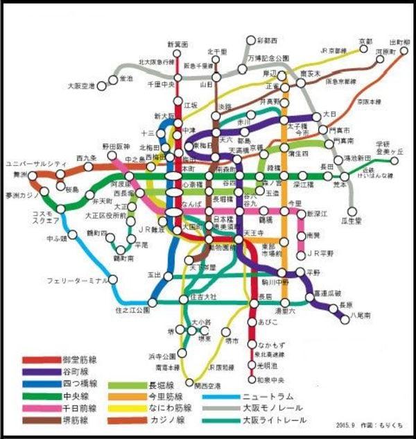 大阪メトロ中央線夢洲駅延伸路線図
