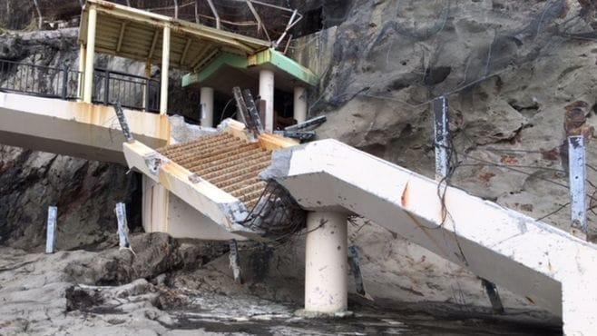 「江の島」台風被害は観光に打撃を与えている