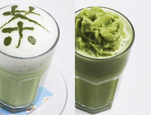 左:抹茶ラテ、右:抹茶スムージー(写真:©2009 Chanomavienna.)