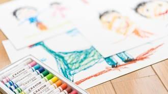 塗り絵に工作、子どもの作品の賢い「捨て方」