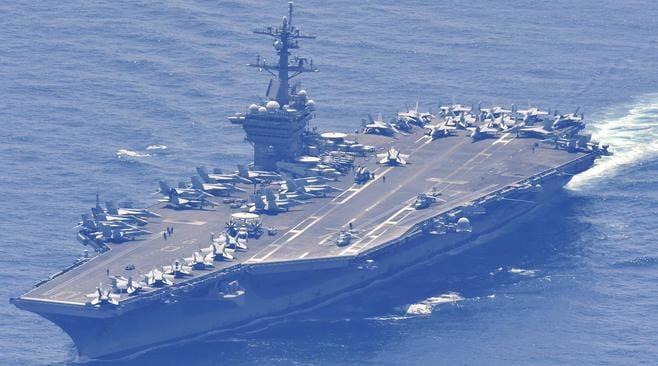 カール・ビンソン、日本海に…韓国と合同訓練