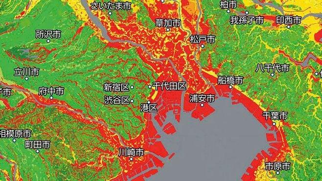 首都圏で地盤が不安な地域は一体どこなのか