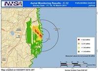 福島第一原発から北西方向に帯状で高い放射線を計測、米エネルギー省発表
